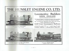Gold Coast Railway (Africa) - GCR Official Book (1925) (HISTORICAL RAILWAY IMAGES) Tags: train railway hunslet leeds steam locomotive gcr ghana goldcoast 262 464 480 ad