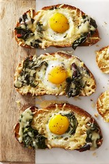 Chard and gruyère eggs in the hole (Norco Ranch Eggs) Tags: norco ranch eggs