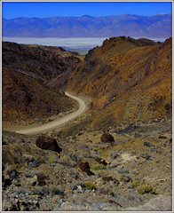 THE SELDOM USED ROAD TO CERRO GORDO GHOST TOWN (Gary Post) Tags: the seldom used road to cerro gordo ghost town