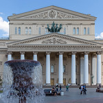 Square with fountain and the Bolshoi Theatre in the background thumbnail
