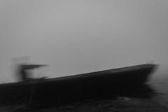 Ganga | Varanasi 2017 (Vijayaraj PS) Tags: nikon varanasi kasi india heritage ganga ganges water river incredibleindia outdoor ghats asia blackandwhite monochrome background grey grains boat sky 2017