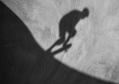Yin and Yang of Skating (Beth Reynolds) Tags: shadow skate skateboard yin yang yinyang blackandwhite moment bowl thrasher ride curves line split