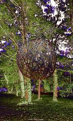 20180529_111926 copie (C&C52) Tags: extérieur nature forêt arbres landart exposition sculpture boule smartphone artnumérique