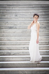 Bride on the Capitol Steps (Laura K Bellamy) Tags: bride bridals portraits wedding weddings dress