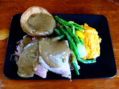 Roast Beef and Yorkshire Pudding (knightbefore_99) Tags: foodies onboard vancouver food lunch work tasty best cool great awesome roast beef pudding yorkshire green beans mashed yam