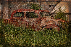 Captured By Spiderman (garywitte845) Tags: car texture spiderweb rust artistic