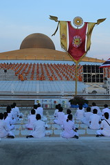 "Wat dhammakaya (g e r a r d v o n k เจอราร์ด) Tags: artcityart art asia asia"" asian architectuur architecture buddha canon city colour canon5d3 dhammakaya dusk expression eos earthasia flickrsbest fantastic flickraward golden lifestyle land monk ngc newacademy outdoor orange totallythailand photos pinnaclephotography people stad street this travel thailand thai tempel temple unlimited uit urban whereisthis where wat yabbadabbadoo"