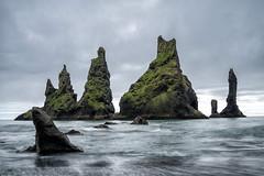 Reynisdrangar (hph46) Tags: island reynisdrangar vikimyrdal iceland nature rocks sea coast longexposure sony alpha6500 canonef2470mm14lisusm