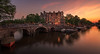 Amsterdam canal sunset (reinaroundtheglobe) Tags: amsterdamcanals amsterdam noordholland nederland netherlands holland dutch canals canalhouses sunset nopeople