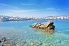 Mykonos beach (roli_photos) Tags: playa mar agua rocas pueblo paraiso beach mykonos grecia nikon d600