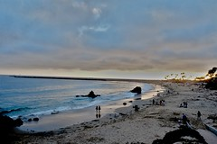 Corona Del Mar Beach (seeveeaar) Tags: corona del mar beach newport california usa evening cloudy serene dusk silhoutte fujifilm xe2 xf1855