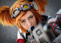 Gaige cosplayer at ExCeL London's MCM Comic Con, May 2018 (Gordon.A) Tags: london docklands londondocklands excel excellondon excellondonexhibitioncentre moviecomicmedia mcm con convention comicbookconvention comiccon mcmcomiccon mcmlondon comicconlondon comicconlondonexcel 2018 may2018 mcm2018 creative costume culture lifestyle style gaige mechromancer borderlands borderlands2 cosplay cosplayer cosplayportrait cosplayphotography festival event eventphotography amateur pose posed portrait portraitphotography streetportrait streetphotography colourportrait colourstreetportrait naturallight naturallightportrait canon eos 750d canoneos750d sigma sigma50100mmf18dc