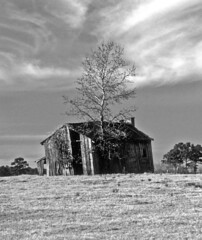 Old Barn (photographyguy) Tags: bw sky louisiana barn clouds filmphotography kodachrome94 kodachrome64 field