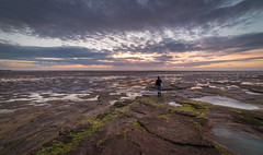 Stand Out (Rob Pitt) Tags: red rocks west kirby wirral sunset photographer clouds a7rii sony samyang 14mm f28 landscape sandstone beach sea sky ocean sand water