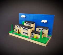 Swedish Block of Flats MOC (betweenbrickwalls) Tags: lego afol house microscale flat sky cloud