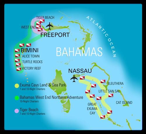 Mappa itinerari Bahamas Aggressor