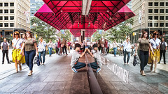 urban symmetry (-liyen-) Tags: urban city toronto ontaro canada street people sidewalk candid color symmetry reflection fujix100f mpt623 matchpointwinner challengeyouwinner cyunanimous