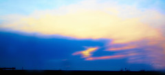 A Large Drop of Sun (Vanessa wuz here) Tags: 70mm wideangle sunset blue pink yellow purple horizon soft softfocus edmonton alberta livingskies anthonyhenday