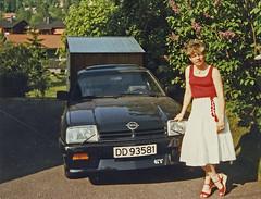 manta (Leifskandsen) Tags: old vintage car opel manta drive wife woman 1984 norway scanned kodak skandsenimages scandinavia skandsen living leifskandsen leif