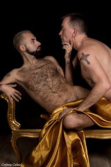 Duo et plus (Phoenix Blue Parangon) Tags: masculin mâle man duet duo poilu hairy tatoo tatouage nu naked