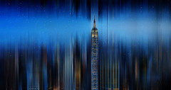 Empire strikes back at night (marianna_a.) Tags: nyc newyork skyline night lights stars motion blur psd architecture urban landscape city mariannaarmata