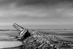 The Wreck of the Artemis (pbradyinct) Tags: capecod massachusetts provincetown boat ship wreck shipwreck storm tide breakwater