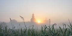 Fog at Sunrise (Martine Lambrechts) Tags: fog sunrise landscape abbey morning