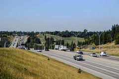 City Traffic (Vegan Butterfly) Tags: outside outdoor traffic city urban cars road freeway hill grass trees edmonton alberta