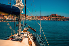 Island hopping..... (Dafydd Penguin) Tags: ancient harbour harbor port dock town village castle fort garrison yacht yachting cruise cruising sailboat sail boat vessel sea water portoferraio elba island isola tuscan tuscany italy leica m10 summicron 35mm f2 asph coast coastal coasting