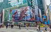 Rampage (JMS2) Tags: billboard movie timessquare windows buildings people crosswalk newyork manhattan