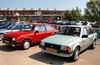 2x Ford Escort mk3 (Skylark92) Tags: ford escort 1982 78ksx3 1983 l 7xrp23 nederland netherlands holland noordholland amsterdam noord north ndsm werf yard youngtimer event 2018