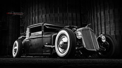 WhiteWall (Neil Banich Photography) Tags: neilbanichphotograhy coolhotrods bw ford hotrods ratrod