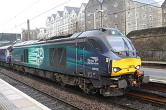 68016 EDINBURGH HAYMARKET 090418 (David Beardmore) Tags: 68016 scotrail vossloh eurolight class68 dieselengine dieselelectric diesellocomotive directrailservices drs
