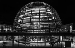 Reichstag dome (diegolopmon) Tags: reichstag dome architecture norman foster backwhite lights night new germany berlin