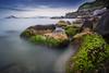 Is this the moment? (Emykla) Tags: mare sea pozzuoli campiflegrei nikon d3100 green verde acqua water rocks scogli blue blu