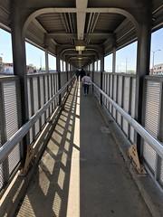 Ramp (Crawford Brian) Tags: cta el elevated chicagotransitauthority blueline train oakpark illinois chicago urban transit rail ramp walkway pedestrian rust concrete shadow