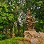Bronze sculpture in the Garden of the Gods in Muang Boran open air museum in Samut Phrakan near Bangkok, Thailand thumbnail