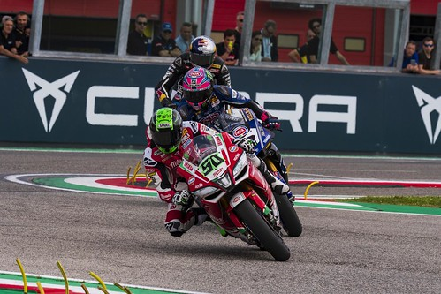 """WSBK Imola 2018 • <a style=""""font-size:0.8em;"""" href=""""http://www.flickr.com/photos/144994865@N06/28494633678/"""" target=""""_blank"""">View on Flickr</a>"""