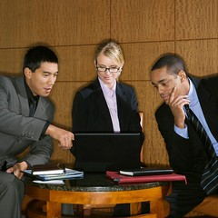 Stock Images (perfectionistreviews) Tags: adult africanamerican asian black business businesssuit businessteam businessman businesswoman caucasian cheerful collaboration colleague communicating corporate coworkers cropped discussion diversity group indoors laptop lobby looking man meeting men pensive people pointing portable presentation serious sharing sitting smiling square table team teamwork thirties three twenties wireless woman computer color photograph businessmeeting businessmen businesspeople technology happy communication conference connectivity