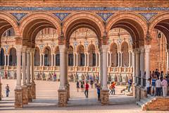 Detalle de la Plaza de España. Sevilla (Zu Sanchez) Tags: plazadeespaña sevilla seville zusanchez zusanchezphotography zúsánchez canon canoneos70d canoneos tresciudadespintorescas