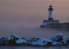 Duluth Light House (magdaolson) Tags: sunrise lakesuperior duluth minnesota lighthouse northern cold ice