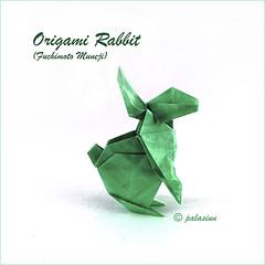origami rabbit (polelena24) Tags: origami rabbit hare easter onesheet square bunny