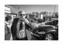 Uncle (Paphylo) Tags: uncle countryside leicaq countrylife carnies monochrome přelouč caravan people reallife blackandwhite wedding sandwiches village carny document
