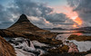 Kirkjufell Dawn (Matt Payne Photography) Tags: clouds fjord iceland kirkjufell landscape loxia21 mountain reflection sonya7r2 sunrise water waterfall arctic beautiful grass