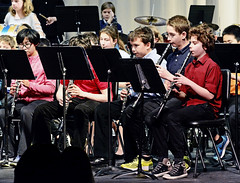 7th-grade band concert (rachel.roze) Tags: performance school richmondmiddleschool hanover march2018 bandconcert 7thgradeband playing clarinet locky adam