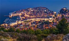 Dubrovnik in blue, Croatia (AdelheidS Photography) Tags: adelheidsphotography adelheidsmitt adelheidspictures croatia dubrovnik unescoworldheritage dalmatia bluehour blauwuurtje cityscape cityview citylights evening canoneos6d colour canonf4l2470mm walledcity citywalls mediterranean historic