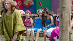 On A Couch Swing (Kevin MG) Tags: girls young youth costume costumes pretty little cute renaissancefaire faire renaissance renfaire irwindale