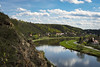 Vyhlídka na Vltavu, Czechia (Peter J. Photo) Tags: view landscape landmark place planet sunny clouds cloudy nature river vltava czechia czech republic spring good weather blue sky skyporn hills town city nikon d3400 lens camera grass water park forest roztoky sedlec praha prague