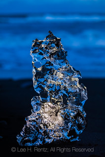 Glacial Ice on Diamond Beach in Iceland