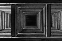 geometry (LG_92) Tags: pannonhalma hungary pilgrim pilgrimage chapel wood wooden architecture detail modern minimalism desolate christianity 2018 april nikon dslr d3100 monochrome bw blackandwhite blackwhite noiretblanc schwarzweiss geometric geometry square lines